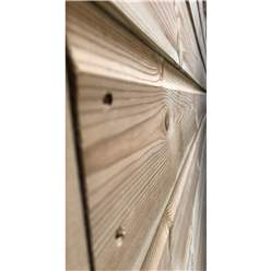 11FT x 5FT **Flash Reduction** REVERSE Super Saver Pressure Treated Tongue And Groove Single Door Apex Shed (High Eaves 72