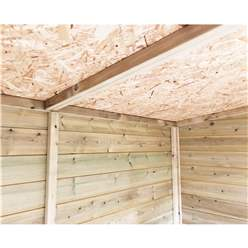 4FT x 6FT **Flash Reduction** REVERSE Super Saver Pressure Treated Tongue & Groove Apex Shed + Single Door + High Eaves (72