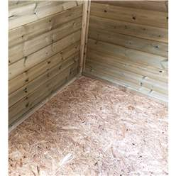 5FT x 6FT **Flash Reduction** REVERSE Super Saver Pressure Treated Tongue & Groove Apex Shed + Single Door + High Eaves (72