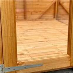 18ft X 4ft Premium Tongue And Groove Pent Summerhouse - Double Doors - 12mm Tongue And Groove Floor And Roof