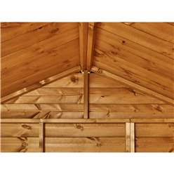12ft X 4ft Premium Tongue And Groove Apex Summerhouse - Double Doors - 12mm Tongue And Groove Floor And Roof