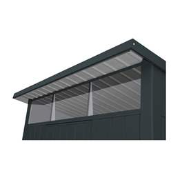 6ft x 5ft Heavy Duty Apex Metal Shed - Anthracite Grey