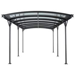 10ft x 16ft Aluminium Curved Carport