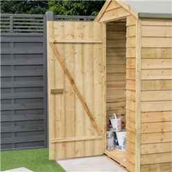 4 x 3 Overlap Apex Shed With Single Door (8mm Overlap)