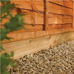 Pressure Treated Timber Gravel Board – Green - Order With Minimum 3 Panels