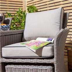 2 Seater Natural Stone Rattan Weave Companion Set
