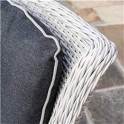 2 Seater Putty Grey Rattan Weave Bistro Set