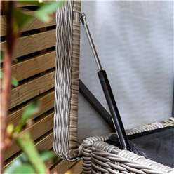 Natural Stone Rattan Weave Cushion Box