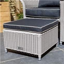 2 Seater Putty Grey Rattan Weave Companion Set