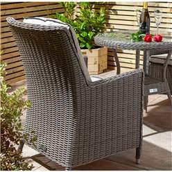 2 Seater Natural Stone Rattan Weave Bistro Set