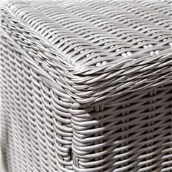 Putty Grey Rattan Weave Cushion Box