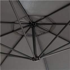 Powder-coated Steel Frame Adjustable Overhang Parasol