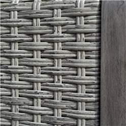 Hardwood Timber Framed Rattan Weave Bench