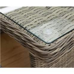 Natural Weave Corner Dining Set