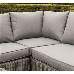Grey Weave Corner Set