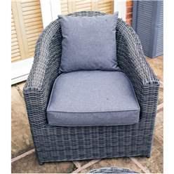 Grey Weave Sofa Set