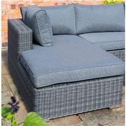 Grey Weave Lounger Set