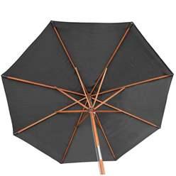 2.7m Grey Wooden Parasol
