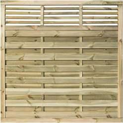 6 x 6 Pressure Treated Open Bar Detailing Screen Panel - Minimum Order of 3 Panels