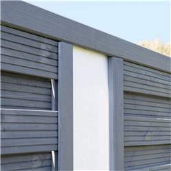 6 x 6 Painted Grey Screen Panel with Translucent Infill - Minimum Order of 3 Panels
