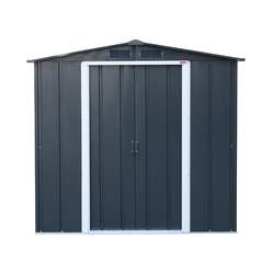 8ft x 6ft Value Apex Metal Shed - Anthracite Grey (2.62m x 1.82m)