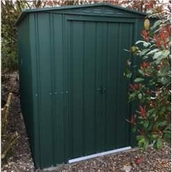 OOS - BACK OCTOBER 2021 - 6ft x 4ft Premier EasyFix – Apex – Metal Shed - Heritage Green (1.84m x 1.23m)