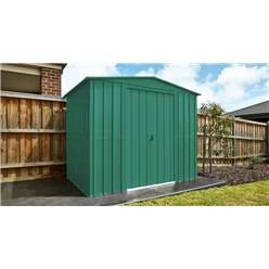 OOS - BACK NOVEMBER 2021 - 8ft x 6ft Premier EasyFix – Apex – Metal Shed - Heritage Green (2.45m x 1.85m)