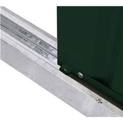 OOS - BACK NOVEMBER 2021 - 10ft x 8ft Premier EasyFix – Apex – Metal Shed - Heritage Green (3.07m x 2.47m)