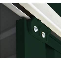 OOS - BACK OCTOBER 2021 - 10ft x 12ft Premier EasyFix – Apex – Metal Shed - Heritage Green (3.07m x 3.71m)