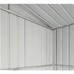 OOS - BACK OCTOBER 2021 - 6ft x 4ft Premier EasyFix – Apex – Metal Shed - Anthracite Grey (1.84m x 1.23m)