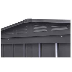 OOS - BACK OCTOBER 2021 - 8ft x 3ft Premier EasyFix – Apex – Metal Shed -Anthracite Grey (2.45m x 0.92m)