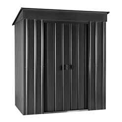 6ft x 4ft Premier EasyFix - Pent - Metal Shed - Anthracite Grey (1.80m x 1.24m)