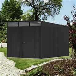 8ft x 12ft XX Large Dark Grey Heavy Duty Metal Shed (2.6m x 3.8m)
