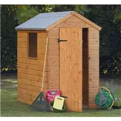 6ft x 4ft (1.84m x 1.33m) Wooden Shiplap Apex Shed