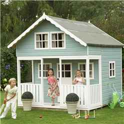 9ft x 8ft (2.69m x 2.39m) -  Lodge Playhouse - 12mm Tongue and Groove - 5 Windows - Single Door - Apex Roof