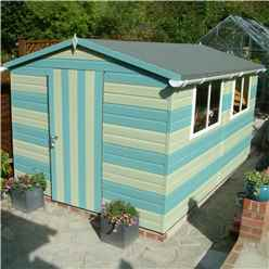 10ft x 8ft (2.99m x 2.39m) - Tongue And Groove - Wooden Apex Workshop - 12mm Tongue And Groove Floor and Roof (CORE)