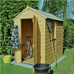 6ft x 4ft (1.82m x 1.2m) - Pressure Treated Tongue And Groove - Apex Garden Shed / Workshop - 1 Window - Single Door - 8mm Solid OSB Floor