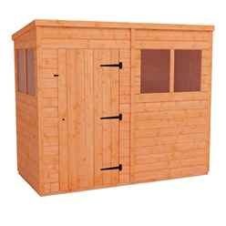 8ft x 4ft Tongue and Groove Pent Shed (12mm Tongue and Groove Floor and Roof)