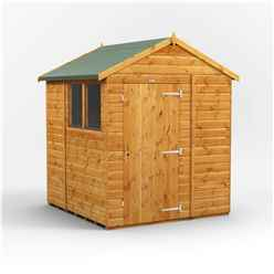 6ft x 6ft Premium Tongue and Groove Apex Shed - Single Door - 2 Windows - 12mm Tongue and Groove Floor and Roof