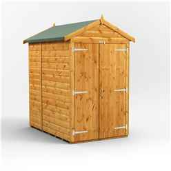 6ft x 4ft Premium Tongue and Groove Apex Shed - Double Doors - Windowless - 12mm Tongue and Groove Floor and Roof