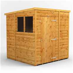6ft x 6ft Premium Tongue and Groove Pent Shed - Single Door - 2 Windows - 12mm Tongue and Groove Floor and Roof
