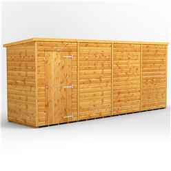 16ft x 4ft Premium Tongue and Groove Pent Shed - Single Door - Windowless - 12mm Tongue and Groove Floor and Roof