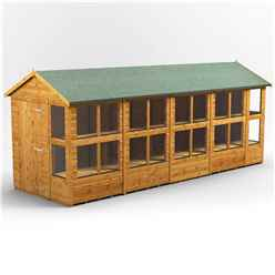 18ft x 6ft Premium Tongue and Groove Apex Potting Shed - Single Door - 22 Windows - 12mm Tongue and Groove Floor and Roof