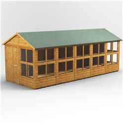 20ft x 6ft Premium Tongue and Groove Apex Potting Shed - Single Door - 24 Windows - 12mm Tongue and Groove Floor and Roof
