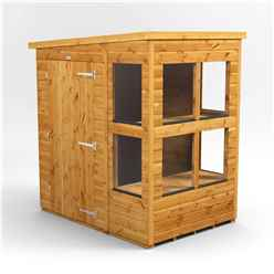 4ft x 6ft Premium Tongue and Groove Pent Potting Shed - Single Door - 8 Windows - 12mm Tongue and Groove Floor and Roof