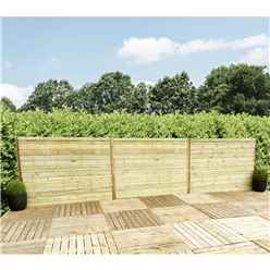 4FT (1.22m) Horizontal Pressure Treated 12mm Tongue & Groove Fence Panel - 1 Panel Only (Min Order 3 Panels) + Free Delivery*
