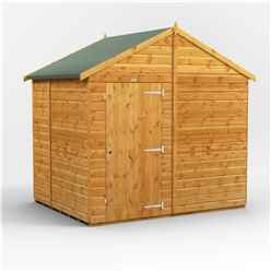 6ft x 8ft  Premium Tongue and Groove Apex Shed - Single Door - Windowless - 12mm Tongue and Groove Floor and Roof