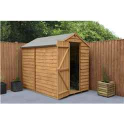 7ft x 5ft (2.1m x 1.5m) Overlap Apex Shed With Single Door Windowless - Modular - INSTALLATION INCLUDED