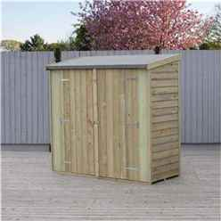 ** IN STOCK LIVE BOOKING ** 6ft x 3ft (1.8m x 0.9m) - Pressure Treated  Value Overlap - Pent Garden Shed - Windowless - Double Doors - 10mm Solid OSB Floor - CORE