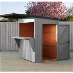 6ft x 4ft (1.79m x 1.19m) - Premier Garden Bar And Store  - 12mm Walls - Roof - Floor (CORE)